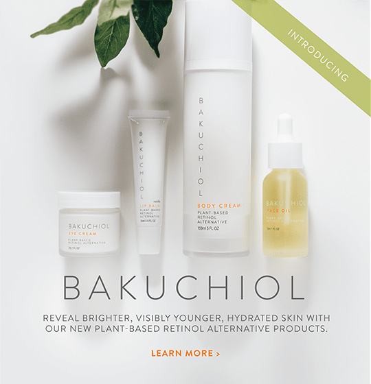 Introduction Bakuchiol. Reveal brighter, visibly younger, hydrated skin with our new plant-based retinol alternative products. Learn more here