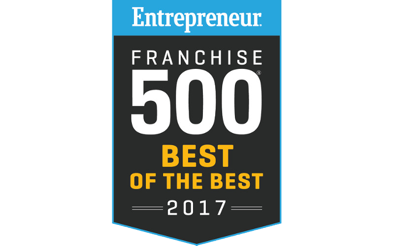 Entrepreneur Franchise 500 Best of the Best 2017